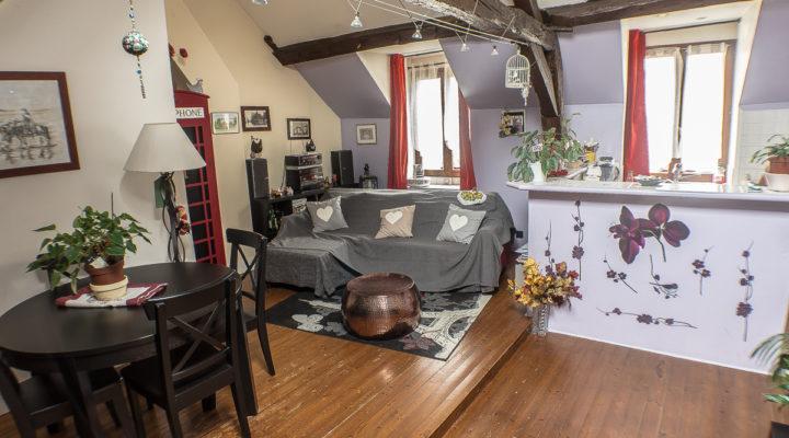 Image Proche Andrésy, Charmant appartement de 3 pièces en duplex.