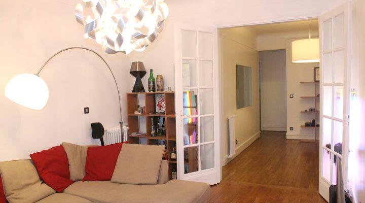 Paris 17ème, Beau 3 pièces lumineux de 90 m2 à deux pas de la Porte Maillot