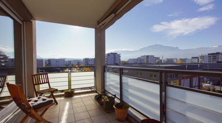 Image St-Martin-d'Hères, Appartement 65m2 contemporain, économe, très lumineux avec terrasse et vue dégagée