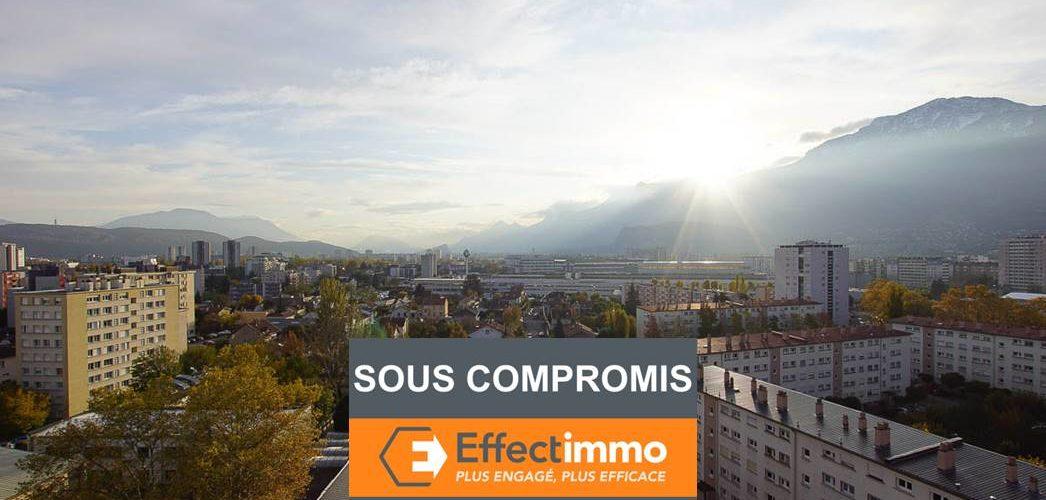 Image Grenoble, 3 pièces 61m² en dernier étage avec loggia, exposé sud, très lumineux et vue dégagée