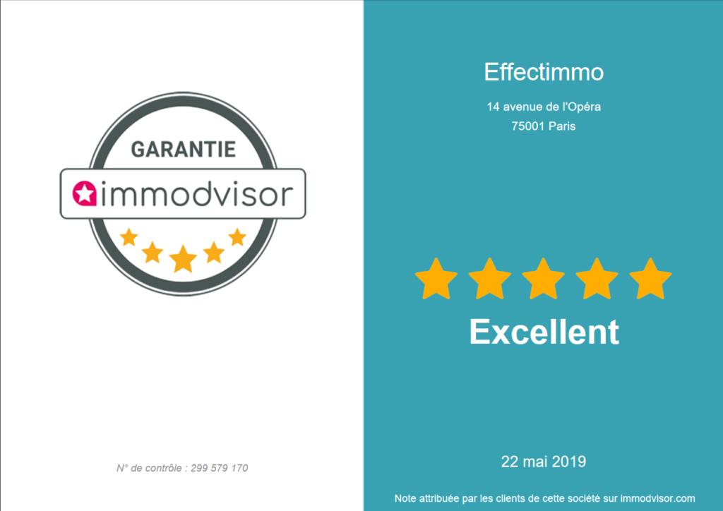 Effectimmo - Avis clients Mai 2019 - La récompense de notre engagement